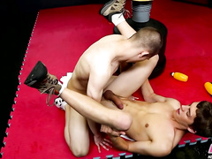 Teen boxers love to fuck each others' assholes