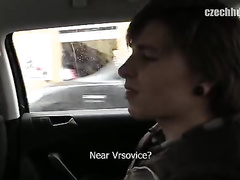 Cutie guy with pierced ear got seduced by gay driver