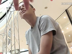 Young skinny guy got seduced to suck dick