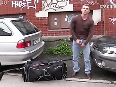 Hokey player need money and agrees to suck huge dick
