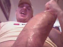Twink is recording closeup solo masturbation gay video