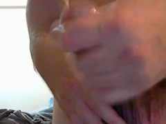 Twink dude is pleasuring dick masturbation in front of the camera