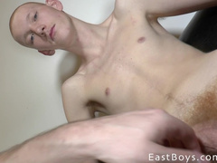 Young dude allows his cock to be masturbated