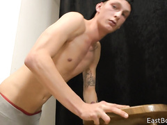 Slender dude shows his sex strength